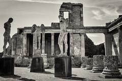 Pompeii Ruins (Jenny Pics) Tags: pompeii architecture columns sculptures igormitoraj mono blackandwhite tones processing italy ruins