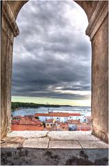 255-POREC DESDE EL CAMPANARIO DE LA BASLICA EUFRSICA (Croacia) (-MARCO POLO--) Tags: atardeceres ciudades pueblos ocasos paisajes nubes