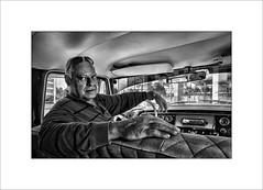 Luis (tkimages2011) Tags: cuba taxi driver car interior havana habana mono monochrome face eyes hands people portrait dodge sunglasses head