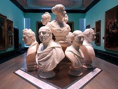 Group of busts in Room 20, the National Portrait Gallery (Snapshooter46) Tags: group busts room20 nationalportraitgallery london artgallery sculpture