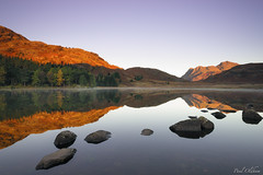 Blea Tarn (Paul Oldham) Tags: landscape lake trees mountains hills colours myautumn water rocks reflections cumbria countryside outside outdoor