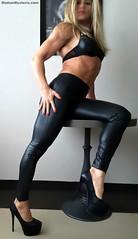 Leather Leggings & High Heels (Madam Mysteria) Tags: leather fetish leggings highheels legs muscle domination boots mysteria