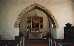 1998 Germany // Wandern an der Nordsee // Schwesing (maerzbecher-Deutschland zu Fuss) Tags: 1998 maerzbecher deutschland germany nordsee wandern natur trail wanderweg hiking trekking kirche church schwesing