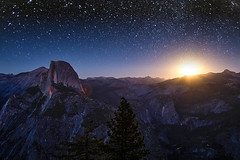 Moonrise at Half Dome (beth ashley alexander) Tags: yosemite nationalpark glacierpoint stars halfdome moonrise moon autumn amazing canon6d