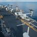 MV-22B Ospreys of Marine Medium Tiltrotor Squadron 262 prepare to take off from USS Bonhomme Richard