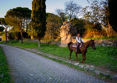 (massimopisani1972) Tags: appia antica via viaappiaantica appiaantica roma rome italia italy massimopisani massimo pisani cavallo horse nikon d610 20300