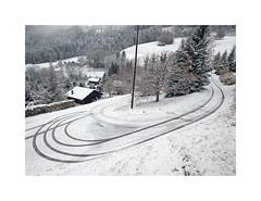 (Brulama) Tags: paysage montagne neige traces lecoteau lullin chablais hautesavoie france