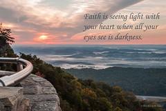 Seeing Light (Back Road Photography (Kevin W. Jerrell)) Tags: sunrise pinnacleoverlook virginia tennessee cumberlandgapnationalhistoricalpark colorful earlymorning backroadphotography scenic quotes nikond60 autumn fog sun