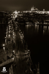 Charles. Again. (SYNAPSTIC photography) Tags: blackwhite nikon d750 fx czesky prague praha prag karlovmost karlsbrcke charlesbridge night longexposure bridge river castle