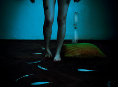 Nightmare (barbarasteger) Tags: nightmare dream dreamcatcher pillow wake awake dark night morning feather legs
