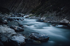 The River (maxencebrierre) Tags: light lightroom blue art canon maxgrey canon60d nature natural dark day eos exposure river sunlight mountain velvet photo photographe filter long water white color cold vsco grain france french photoshop