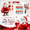 free vector happy new year & merry christmas sale with santa (cgvector) Tags: background banner big blowout blue card christmas claus clearance deal design discount element event final flyer happy holiday isolated layout mega merry new offer poster price red reindeer riding sale santa season shop sign sledge sleigh spark special super symbol tag template tree vector white winter xmas year