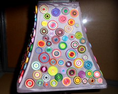 lamp (2) (Mischa's Crafts) Tags: light lamp shade mischa paper quills spiral round quilling circles colorful homedecor diy decorating rolls crafts papercrafts quilled projects glue multicolored rainbow art