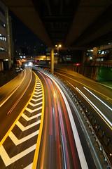 night highway light stream 03 (HAMACHI!) Tags: sony sonyrx100v dscrx100m5 cybershot 2016 japan tokyo lightstream night highway