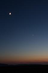coucher de soleil avec la lune (charles_edouard) Tags: lune couch soleil sunset couchdesoleil