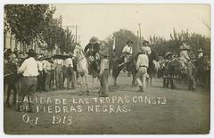 Salida de las Tropas Consts de Piedras Negras. Oct 1913. (SMU Central University Libraries) Tags: militia horses mexicanrevolution