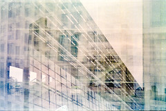 Multiple Exposure - Architecture (Hauptillusionator) Tags: analog analogue film fuji superia 200 canon a1 multiple exposure architecture self developed tetenal scan scanner reflecta rps 10m abstract