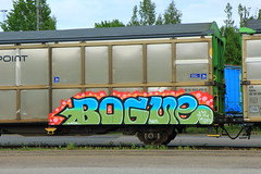 Freights (Thomas_Chrome) Tags: street streetart art train suomi finland graffiti moving europe steel cargo illegal target nordic finnish freight vr benching transpoint