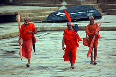 "46. Sadhu. In Hinduism, a sādhu (Sanskrit sādhu, ""good; good man, holy man"") is a religious ascetic or holy person.[1] Although the vast majority of sādhus are yogīs, not all yogīs are sādhus.Varanasi, Uttar Pradesh, India (nagasairo) Tags: india varanasi rajasthan benares uttarpradesh sādhu"