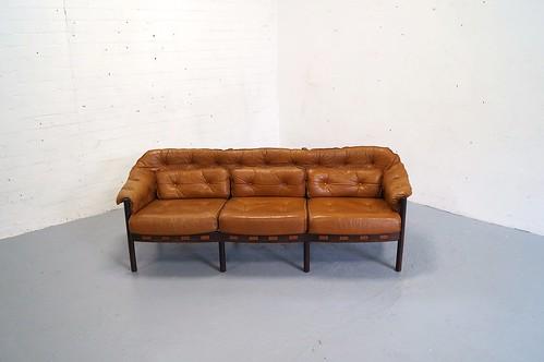Vintage arne norell bank sofa jaren bankstel deens design