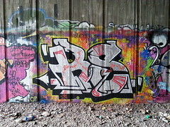 Tampere graffiti (Thomas_Chrome) Tags: street streetart art suomi finland graffiti europe tunnel can spray illegal nordic walls tampere trackside