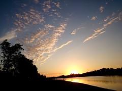 (Goliat The Bug) Tags: sunset sky lake nature serbia belgrade beograd adaciganlija