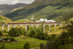 """The Jacobite - """"Harry Potter"""" Train in Scotland (Jill Clardy) Tags: west clouds port train coast scotland day cloudy fort engine harry potter william steam lancashire viaduct coal railways fusilier glenfinnan fired mallaig jacobite thejacobite 4b4a4422"""
