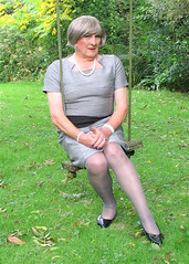 Greyboyswing-001 (fionaxxcd) Tags: nipples bob crossdressing bust tranny crossdresser stilettoes pearlnecklace trannie mtf m2f tansvestite greytights
