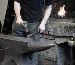 Blacksmithing Demonstration at Tooleys
