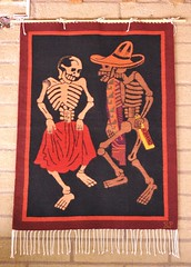 Skeleton Dancers Day Of the Dead Rug Mexico (Teyacapan) Tags: dayofthedead mexican skeletons textiles rugs tapete posada perez calacas teotitlan tejidos zapotec