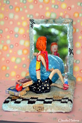 Pilates (* Cludia Helena * brincadeira de papel *) Tags: brazil love brasil doll amor health boneca pilates papermache sade papiermach papelmach cludiahelena