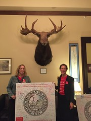 With Oscar the moose in Senator Kelly Ayotte's office