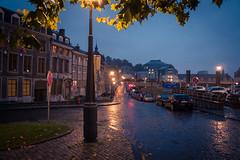 Fog And Rain (Pluie et Brouillard) (Gilderic Photography) Tags: street city morning wet lumix lights belgium belgique belgie pavement panasonic rue liege ville luik cadran lumbers gilderic lx3 dmclx3
