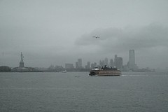 NY Harbor On A Rainy Cloud Day (Impressionist Photo Effect Created by Nolan H. Rhodes)) (nrhodesphotos(the_eye_of_the_moment)) Tags: autumn seagulls bird wet metal architecture season boat jerseycity ship waterfront skyscrapers artistic cloudy outdoor perspective creative landmark torch rainy transportation eastriver vehicle hudsonriver statueofliberty statenislandferry impressionistic damp libertyisland nyharbor dsc07380 nrhodesphotosyahoocom wwwflickrcomphotostheeyeofthemoment theeyeofthemomentbynolanhrhodes