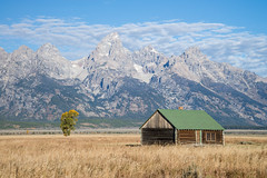 Old Cabin & Tetons (jeffloomis1) Tags: mountains landscape cabin grandtetonnationalpark antelopeflats