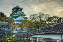Toyotomi Hideyoshis Castle in saka. (KyotoDreamTrips) Tags: japan    saka toyotomihideyoshi japanesecastles osakaj