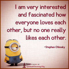 SpiritualCleansing.Org - Love, Wisdom, Inspirational Quotes & Images (SpiritualCleansing) Tags: people funny relationship everyone interested fascinated stephenchbosky likeseachother loveseachother