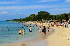 Frederiksted Beach (Prayitno / Thank you for (11 millions +) views) Tags: ocean blue sky people cloud sun white beach water st swimming swim relax islands us day time outdoor sandy united relaxing sunny virgin bikini stcroix caribbean states bathing vi cirrus croix usvi konomark federiksted