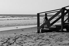 Solo......sur...... (pp diaz) Tags: espaa luz mar andaluca playa paisaje bn arena sur cdiz mirando rota costaballena
