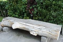 Big timber bench (leykladay) Tags: park new wood york old city nyc summer urban usa plant tree green rock stone bench thailand wooden log alley day path manhattan empty central noone free landmark foliage midtown sidewalk trail walkway blank rest leisure recreation comfort timbered