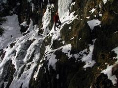Escape Traverse (Dru!) Tags: snow canada never ice rock sketchy climb bc britishcolumbia traverse adventure climbing verglas thin iceclimbing lillooet toothin iceclimb terzaghidam carpenterlake choss thewalrus