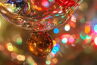 Venetian Glass Ornament base details- macro