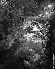 Flowing (and641) Tags: longexposure blackandwhite bw water monochrome river noiretblanc greece thessaly livadeia atx116prodx tokina1116 nikond5100
