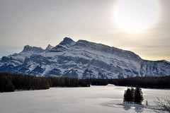 Mt Rundle (Tangle Knitter) Tags: mountains alberta banff rockymountains mtrundle vermilionlake