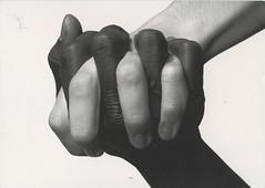 Mirjam - Send 2 Receive 2 RR #1277 (selphie10) Tags: blackandwhite hands hand body fingers thenetherlands rr powerful bodypart noracism bodytalk nathaliep holdinghandsfriendship