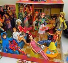 PARTY TIME! (ModBarbieLover) Tags: house casey mod doll barbie skipper 1966 becky 1967 1970 tnt francie