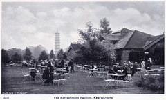 Kew Gardens - Refreshment Pavilion (pepandtim) Tags: postcard old early nostalgia nostalgic kew gardens refreshment pavilion nelson series gale polden amen corner london 34kgr52 pagoda chairs