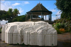 Holm by Tania Kovats (Canis Major) Tags: holm steepholm artwork taniakovats madeiracove westonsupermare bandstand concrete