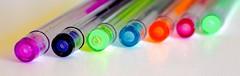 HMM - Glitter Gel Pens (Zee Jenkins) Tags: macromonday gel pens pen neon hmm macro glitter white
