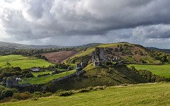 Dark Skies Above Corfe Castle (Tilney Gardner) Tags: corfecastle corfe corfevillage dorset landscape nikon clouds